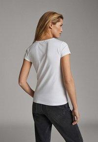 Massimo Dutti - T-shirt basic - white - 2
