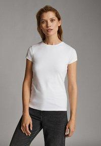 Massimo Dutti - T-shirt basic - white - 0