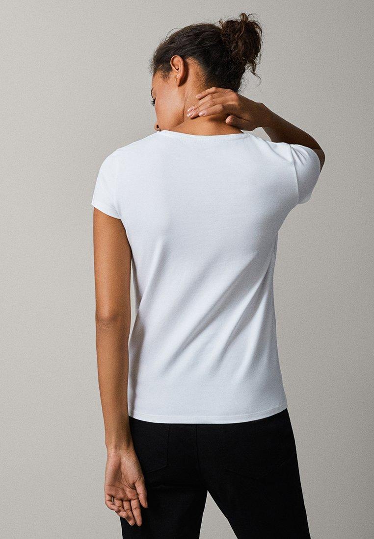 Massimo Dutti - BASIC - Basic T-shirt - white