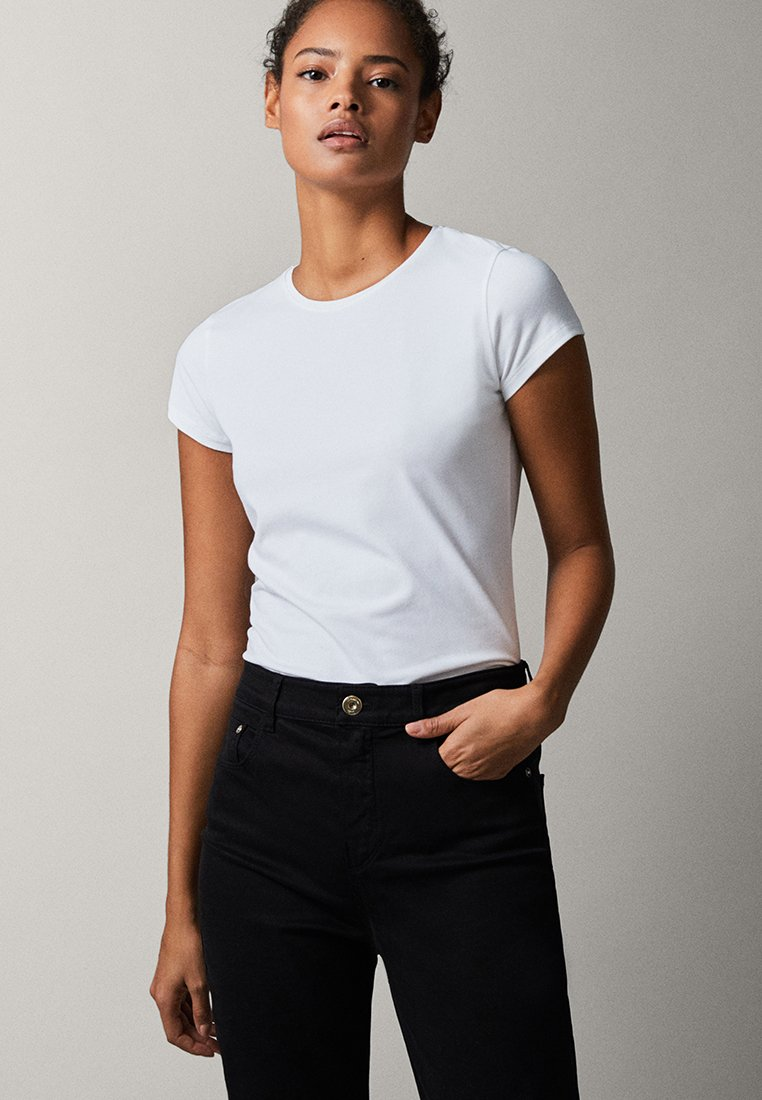 Massimo Dutti - BASIC - T-shirt basique - white