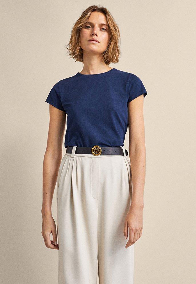 Massimo Dutti - BASIC - Basic T-shirt - dark blue