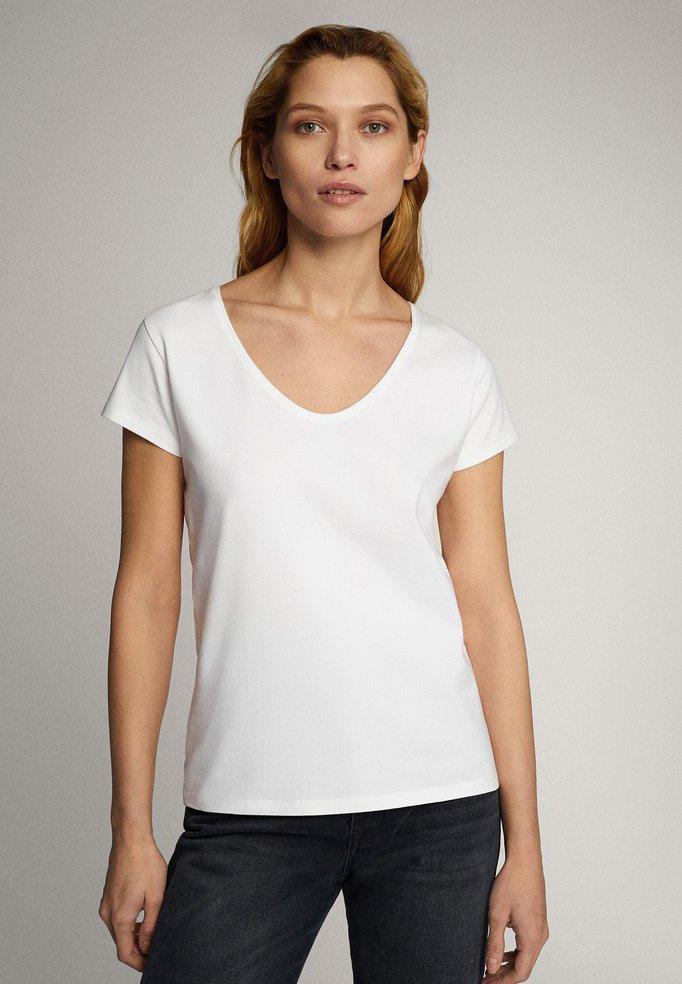 Massimo Dutti - Basic T-shirt - white