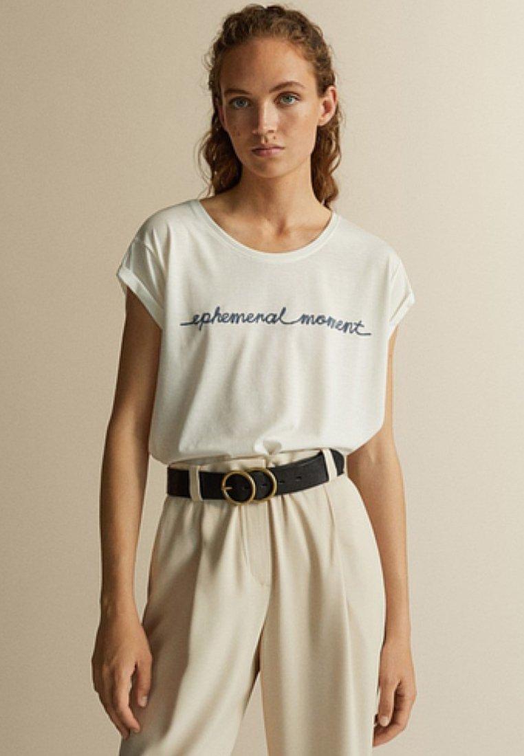 Massimo Dutti - T-Shirt print - white