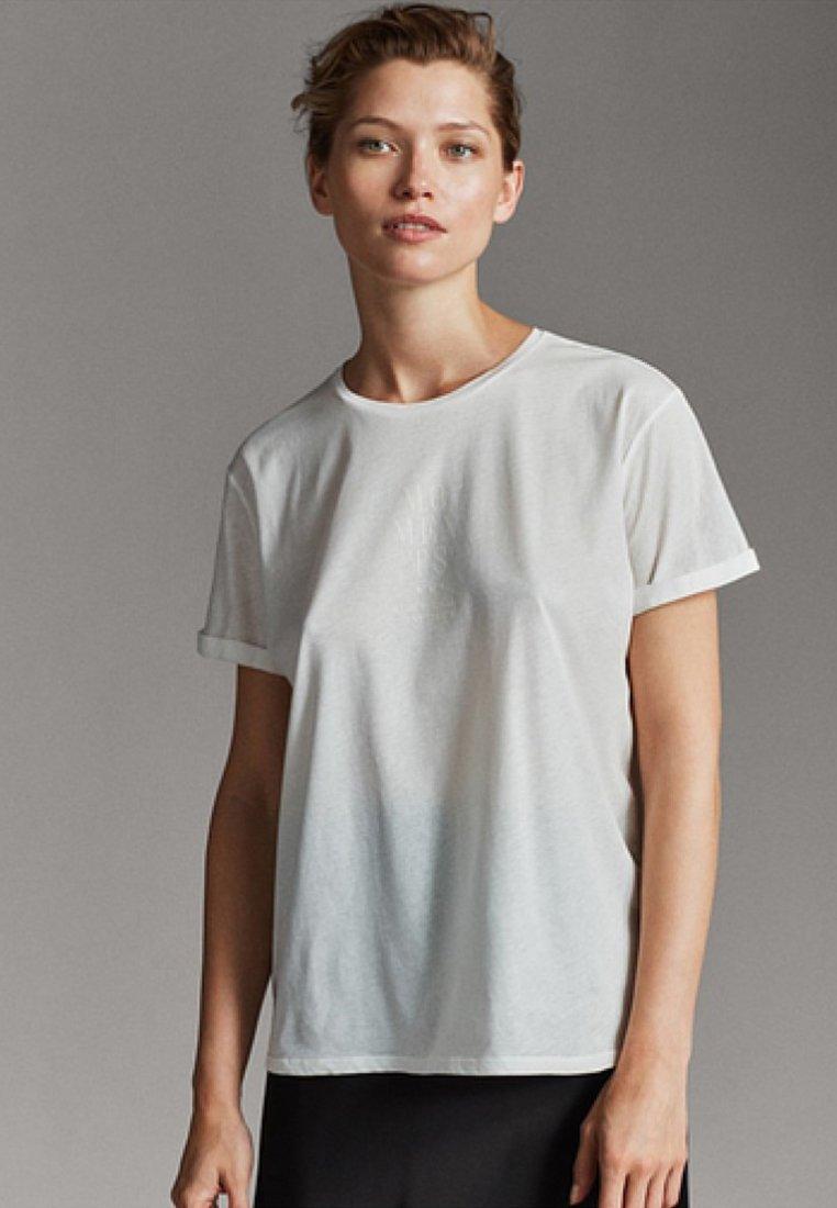 Massimo Dutti T-shirt imprimé white