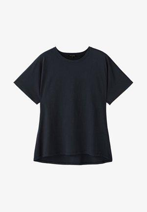 UNIFARBENES BAUMWOLLSHIRT 06812902 - T-shirt basique - dark blue