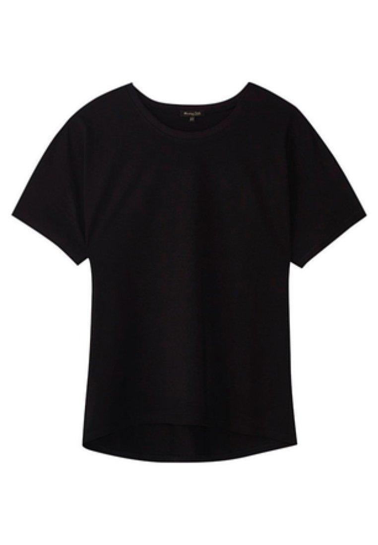 Massimo Dutti UNIFARBENES BAUMWOLLSHIRT 06812902 - T-shirt basic - black