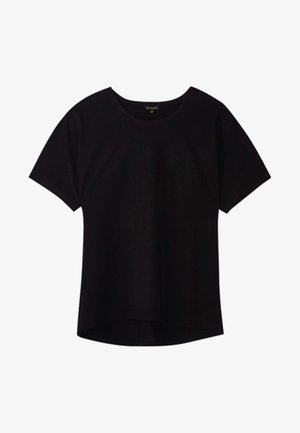 UNIFARBENES BAUMWOLLSHIRT 06812902 - T-shirt basic - black