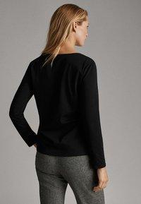 Massimo Dutti - Long sleeved top - black - 2