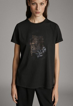 MIT SLOGAN - Print T-shirt - dark grey