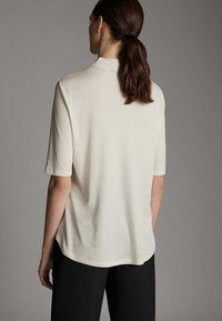 Massimo Dutti - STRAIGHT FIT - Basic T-shirt - white - 1