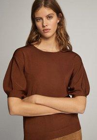 Massimo Dutti - T-shirt print - brown - 3