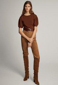 Massimo Dutti - T-shirt print - brown - 1