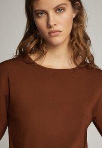 Massimo Dutti - T-shirt print - brown - 4