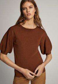 Massimo Dutti - T-shirt print - brown - 0
