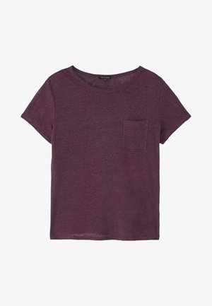 MIT TASCHE  - Basic T-shirt - dark purple
