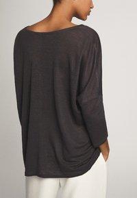 Massimo Dutti - MIT V-AUSSCHNITT - Long sleeved top - blue-black - 2