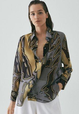 MIT TASCHEN - Button-down blouse - grey