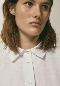Massimo Dutti - Button-down blouse - white - 6