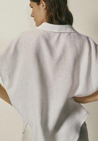 Massimo Dutti - Button-down blouse - white - 1