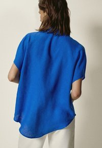 Massimo Dutti - Button-down blouse - blue - 1