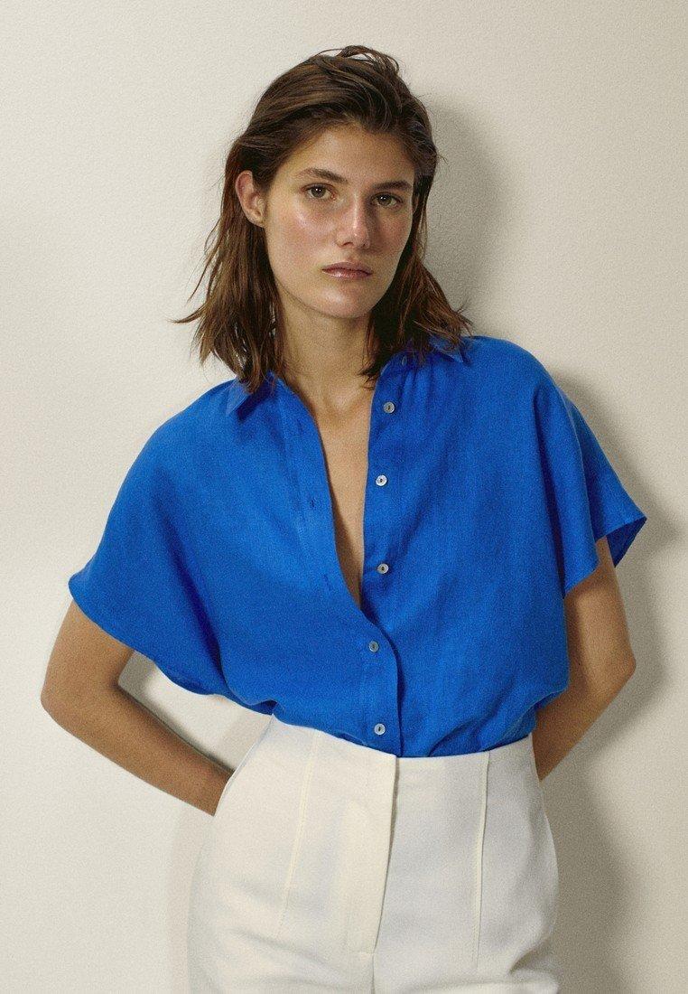 Massimo Dutti - Overhemdblouse - blue