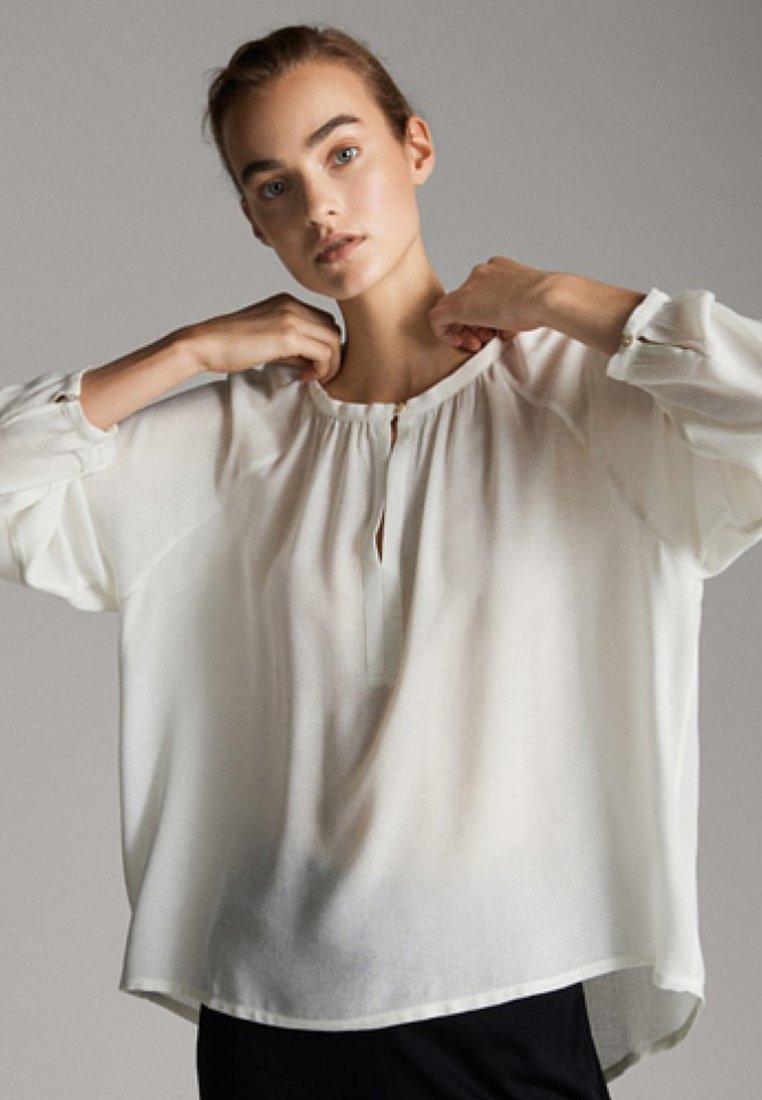 Massimo Dutti - MIT ÄRMELDETAIL - Bluse - white