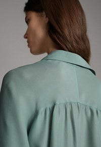 Massimo Dutti - Button-down blouse - turquoise - 5