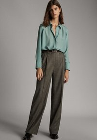 Massimo Dutti - Button-down blouse - turquoise - 1