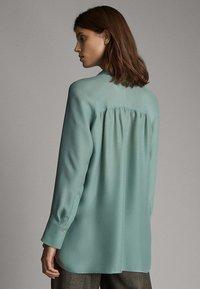 Massimo Dutti - Button-down blouse - turquoise - 2