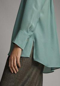 Massimo Dutti - Button-down blouse - turquoise - 3