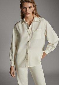 Massimo Dutti - Button-down blouse - beige - 0