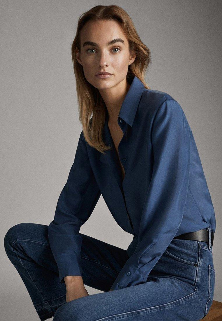 Massimo Dutti 05123517 - Skjorta Blue