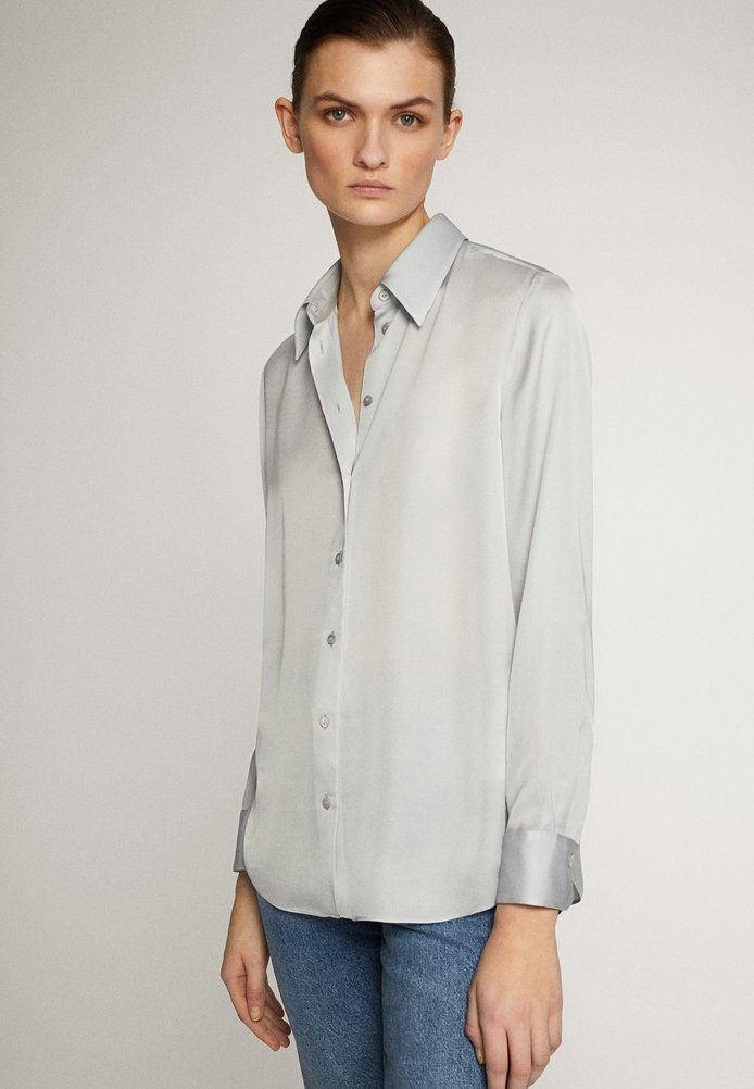 Massimo Dutti - UNIFARBENES FLIESSENDES HEMD 05111690 - Camicia - light grey