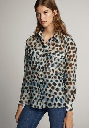 Button-down blouse - dark grey