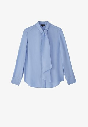 MIT SCHLEIFENDETAIL  - Overhemdblouse - blue