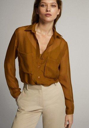 MIT TASCHEN - Overhemdblouse - ochre