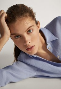 Massimo Dutti - Button-down blouse - light blue - 5