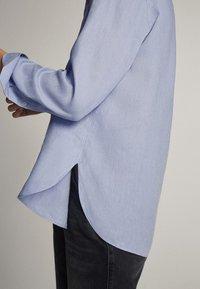 Massimo Dutti - Button-down blouse - light blue - 4