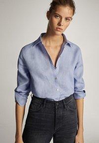 Massimo Dutti - Button-down blouse - light blue - 0
