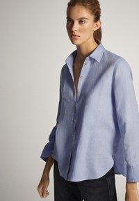 Massimo Dutti - Button-down blouse - light blue - 1