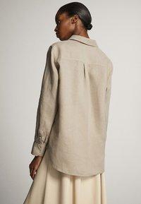 Massimo Dutti - Button-down blouse - ochre - 2