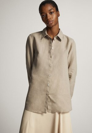Button-down blouse - ochre
