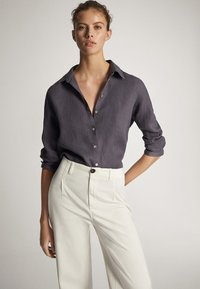 Massimo Dutti - Button-down blouse - dark purple - 1