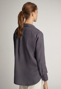 Massimo Dutti - Button-down blouse - dark purple - 2