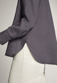 Massimo Dutti - Button-down blouse - dark purple - 4