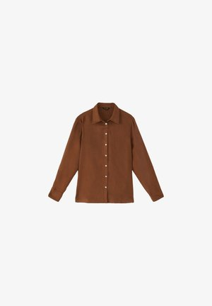 Button-down blouse - brown