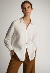 Massimo Dutti - Button-down blouse - white - 0