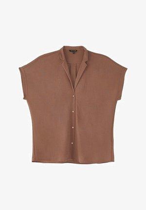 SHIRT MIT KNOPFLEISTE UND KURZEN ÄRMELN 06868887 - Button-down blouse - brown
