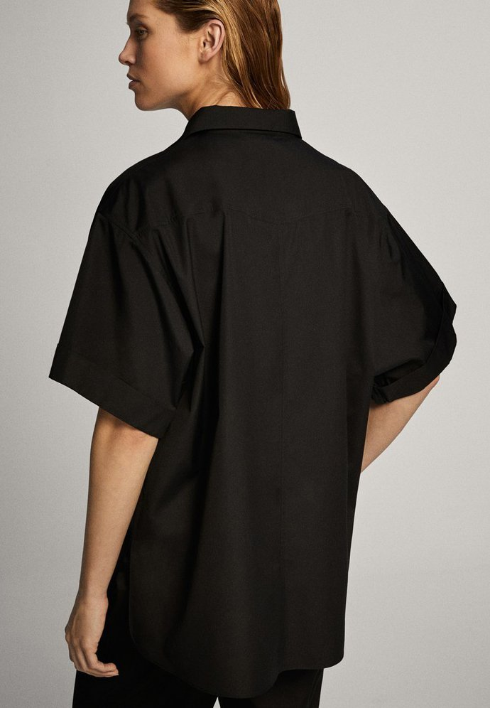 Massimo Dutti Skjortebluser - Black