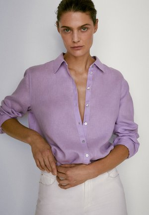 Button-down blouse - mauve